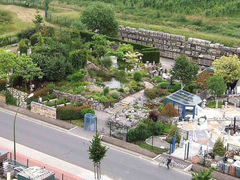 Ein Teil der Gartenausstellung der BioTopic GmbH