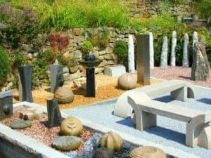 Gartenbrunnen und Wasserspiele in der Ausstellung