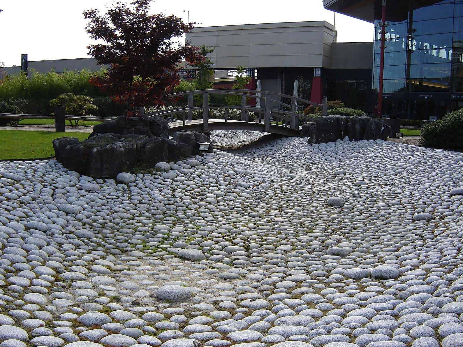 Asiatischer Steingarten