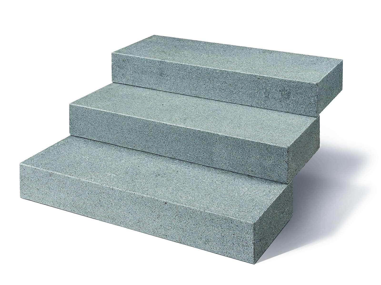 Granit Blockstufen Kristall anthrazit