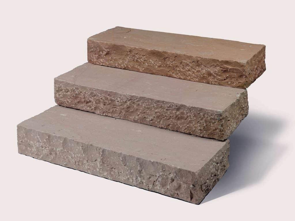 Blockstufe Toskana Sandstein rustikal