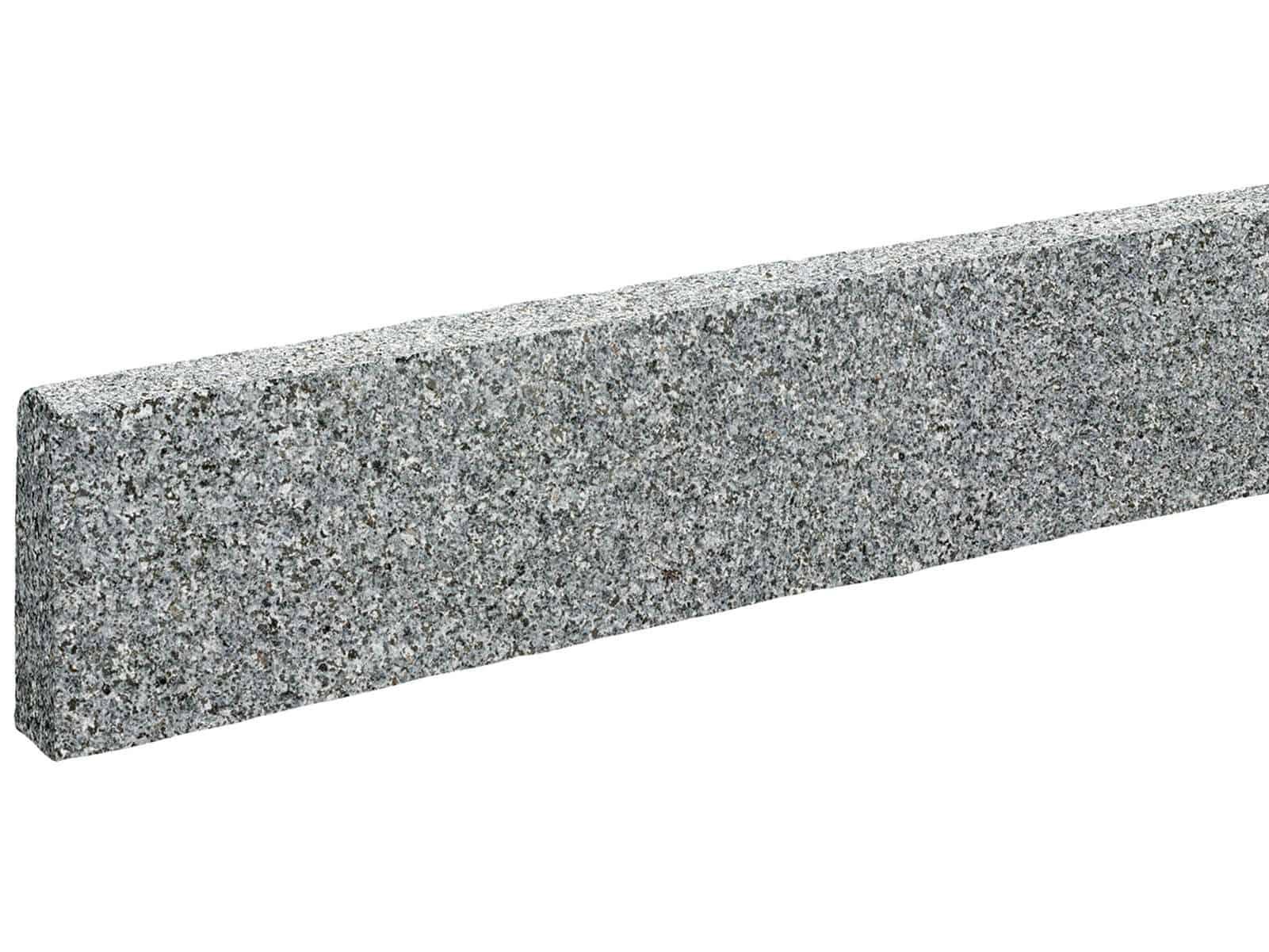 Randstein edel Granit Kristall antrhrazit gesägt geflammt