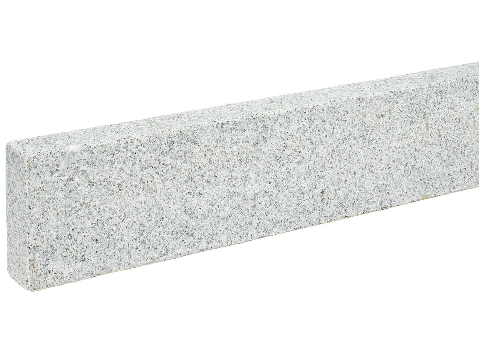 Edelrandstein Granit grau gesägt geflammt