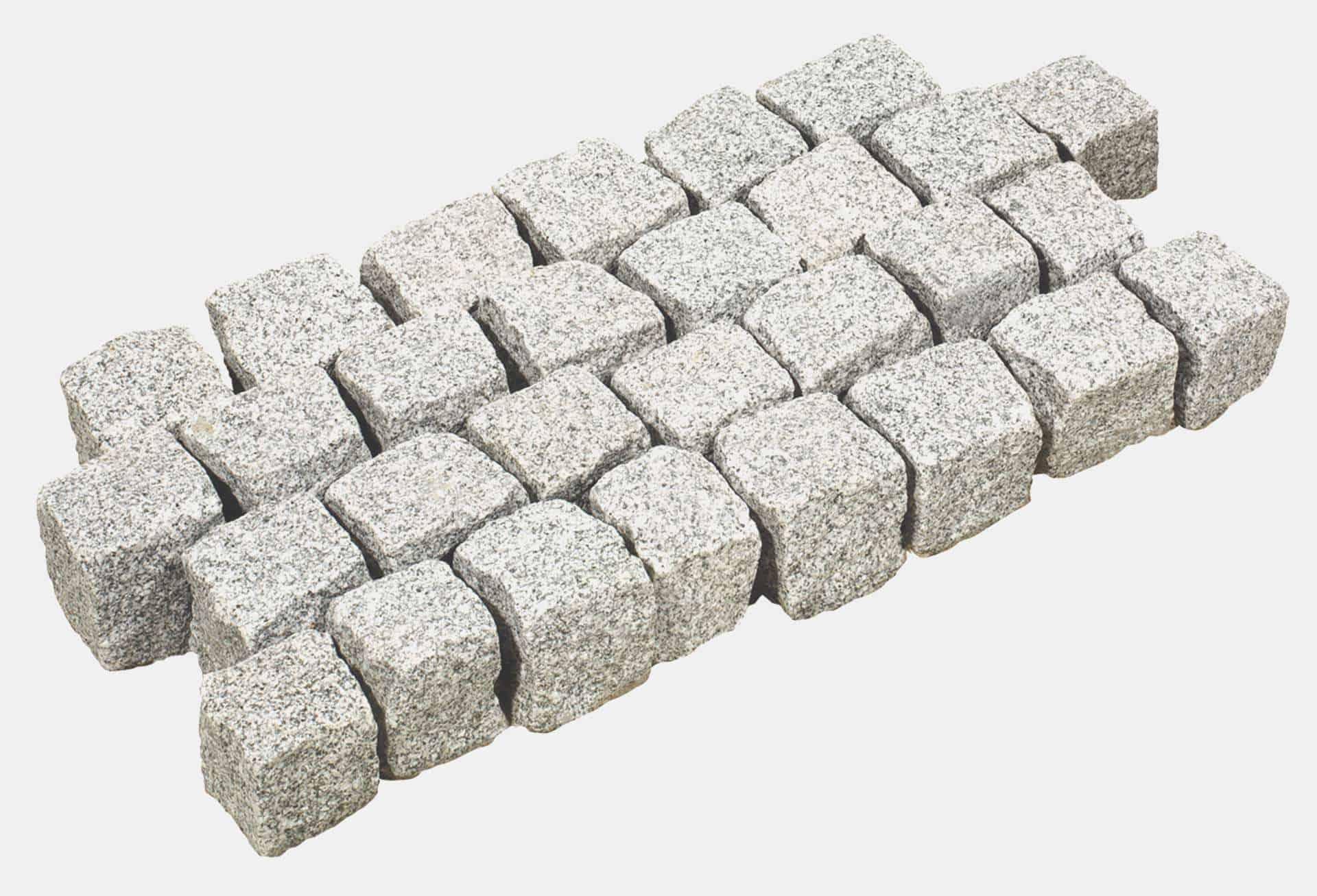 Granitpflastersteine hellgrau OTL
