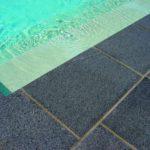 Poolumrandung Granit antrazit