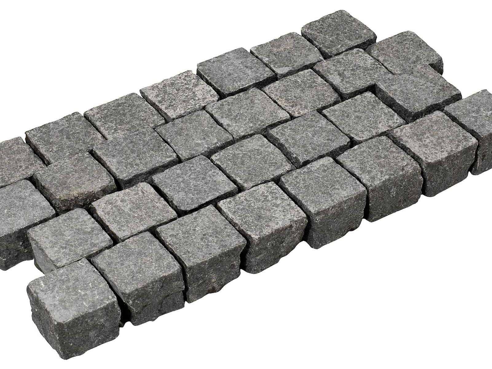 Pflasterstein First Class Basalt Kristall schwarz