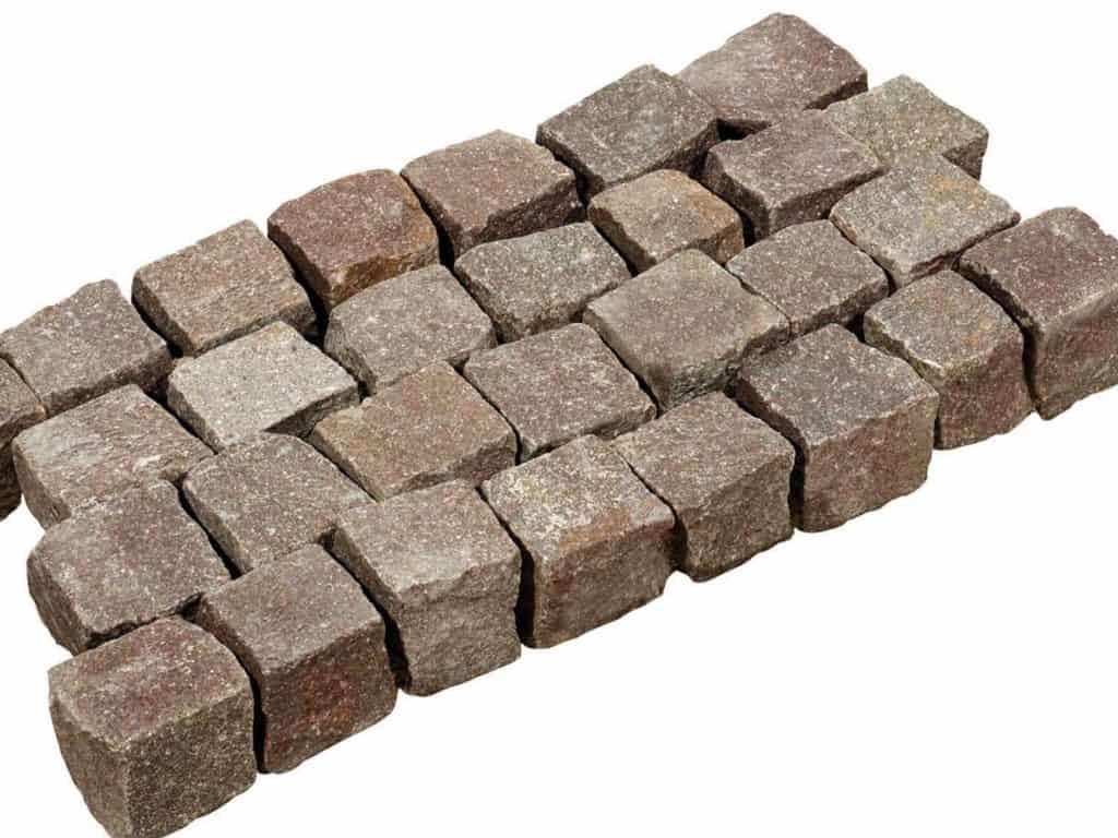Pflastersteine aus Porphyr