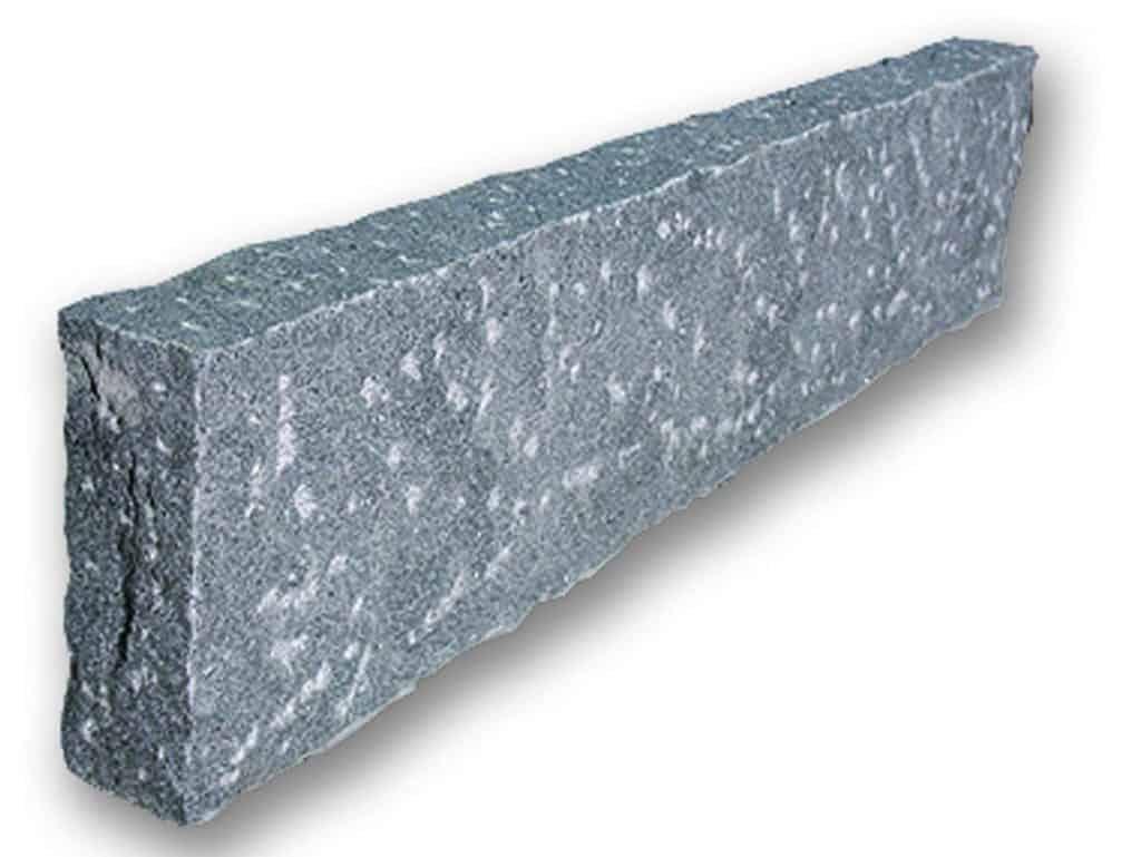 Randstein Granit Kristall anthrazit gepitzt