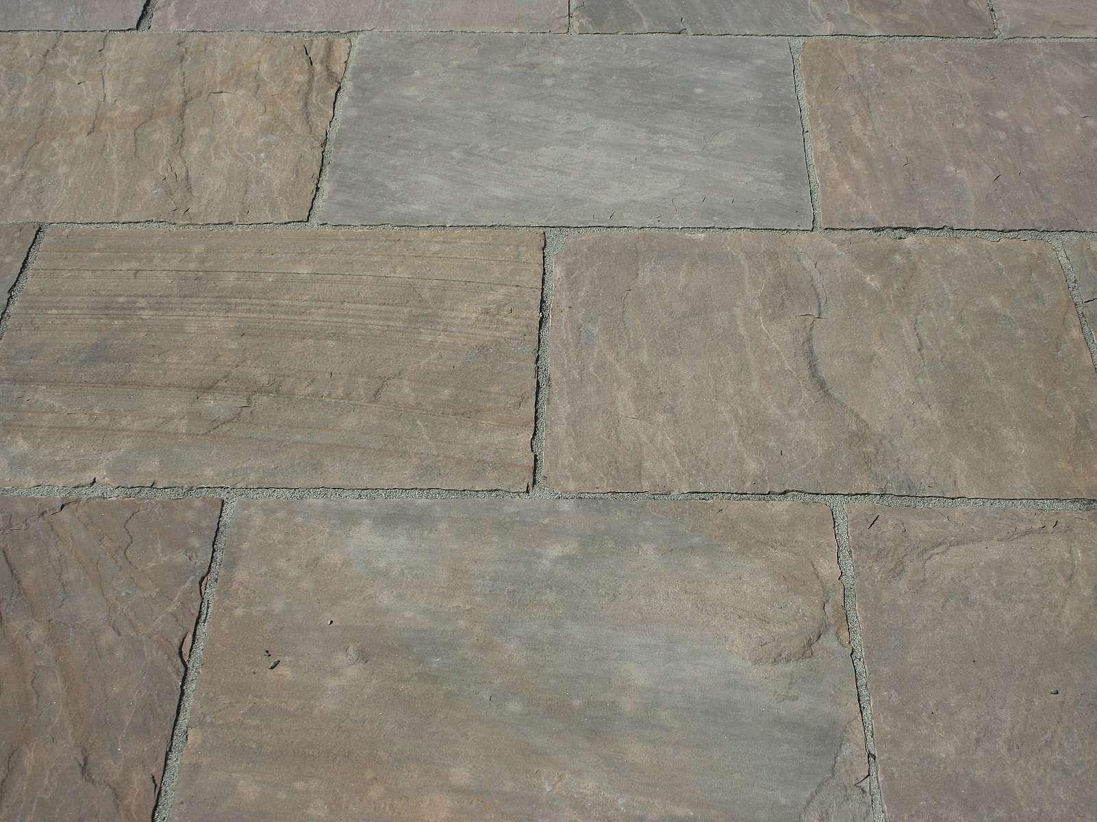 Sandsteinplatten aus dem indischen Toskana Sandstein.