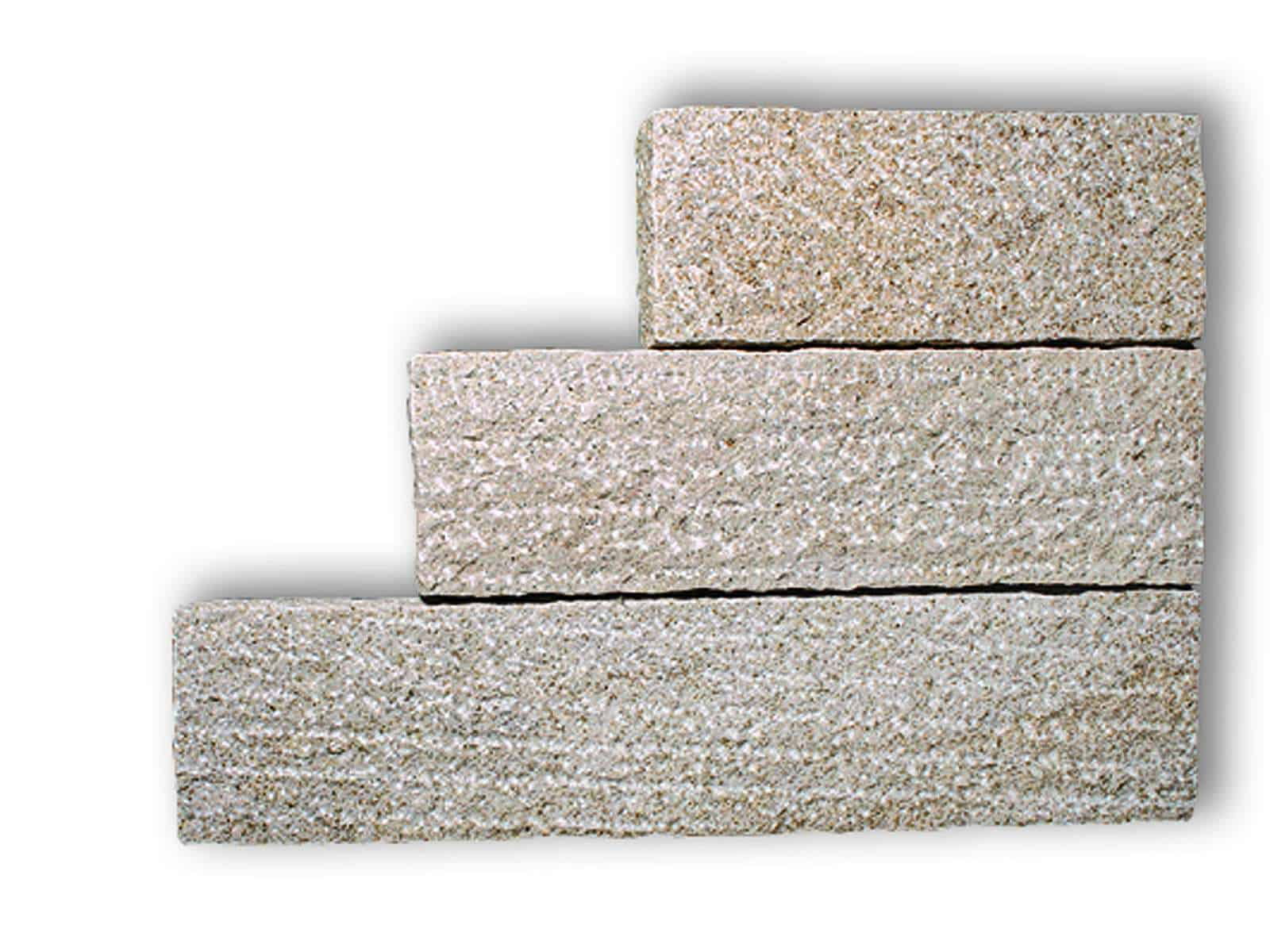 Stele Granit Kristall gelb