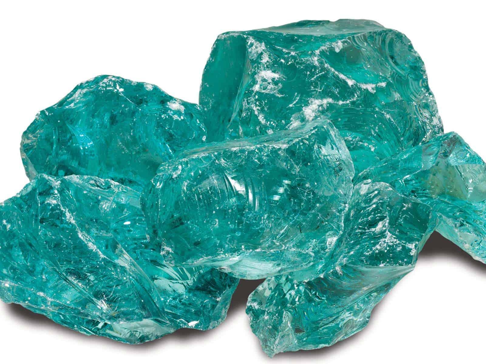 Gabionestein Glas Türkis