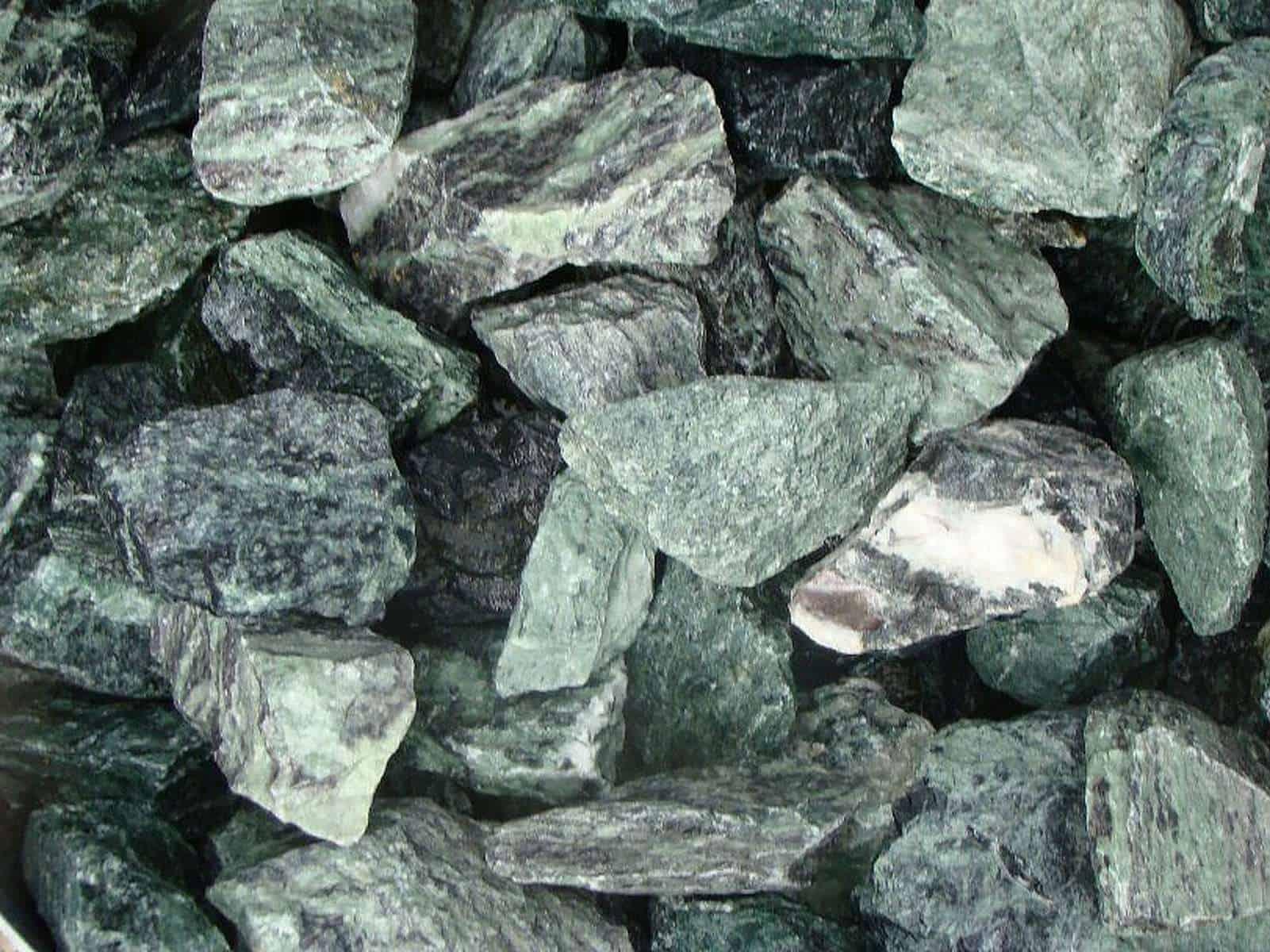 Gabionenstein Marmor Grün