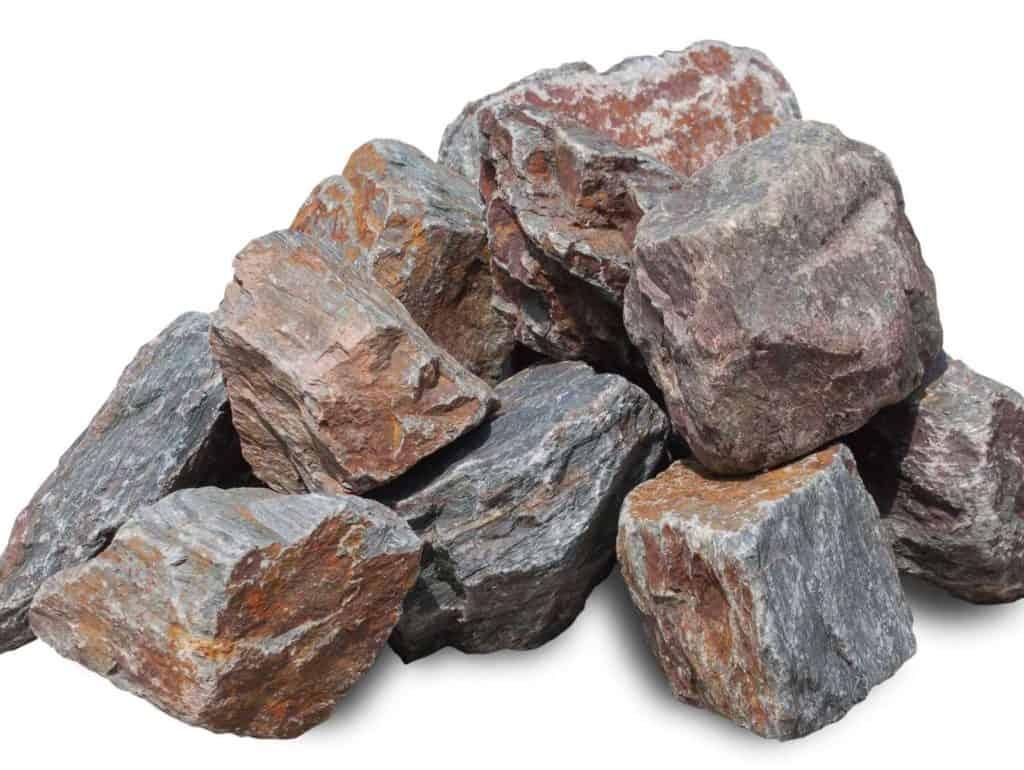 Violetto Bruchsteine Trcokenmauersteine 8-25cm