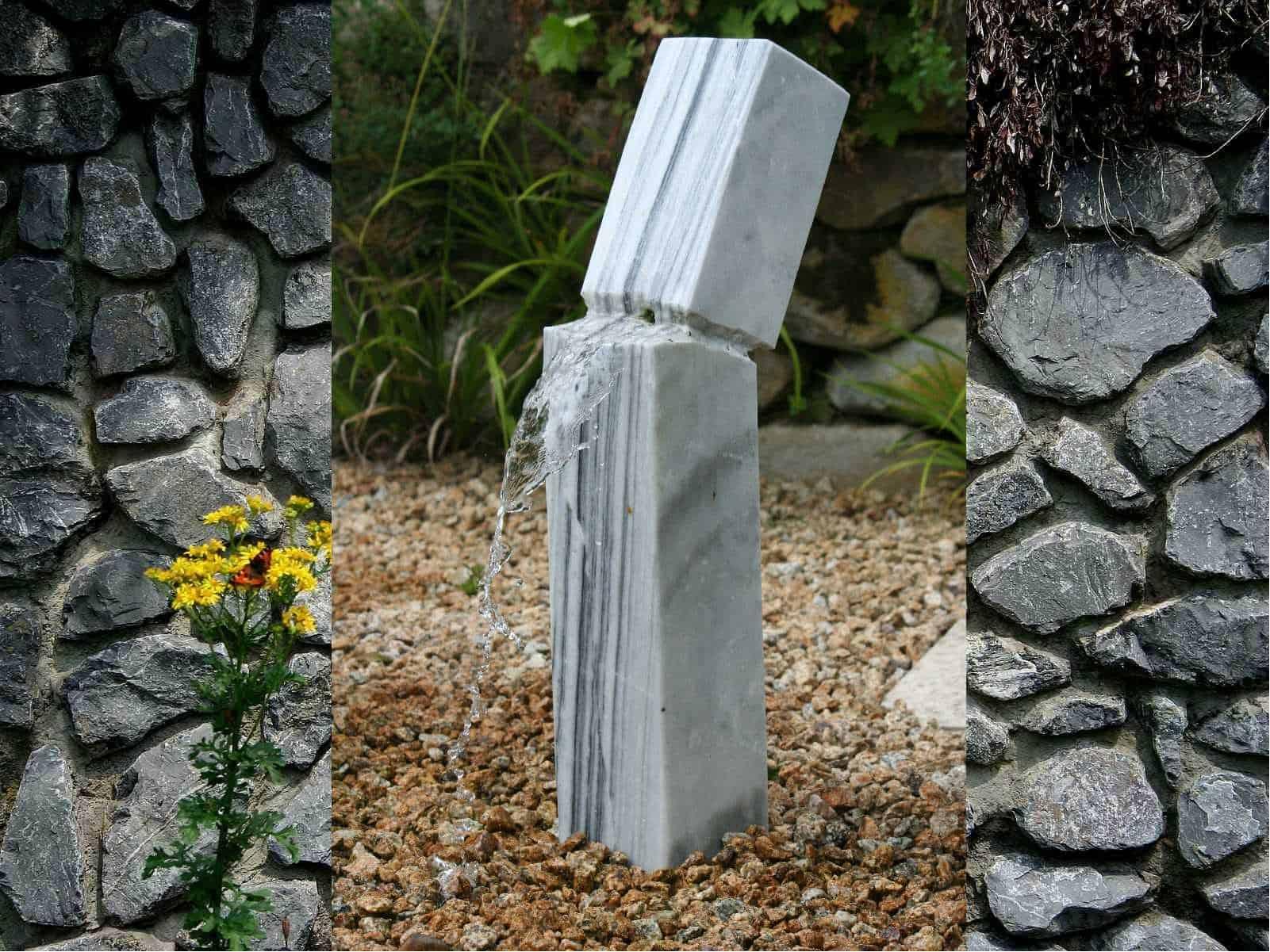 Gartenbrunnen Earthquake Marmor