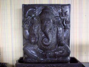 Gartenbrunnen Ganesha Relief