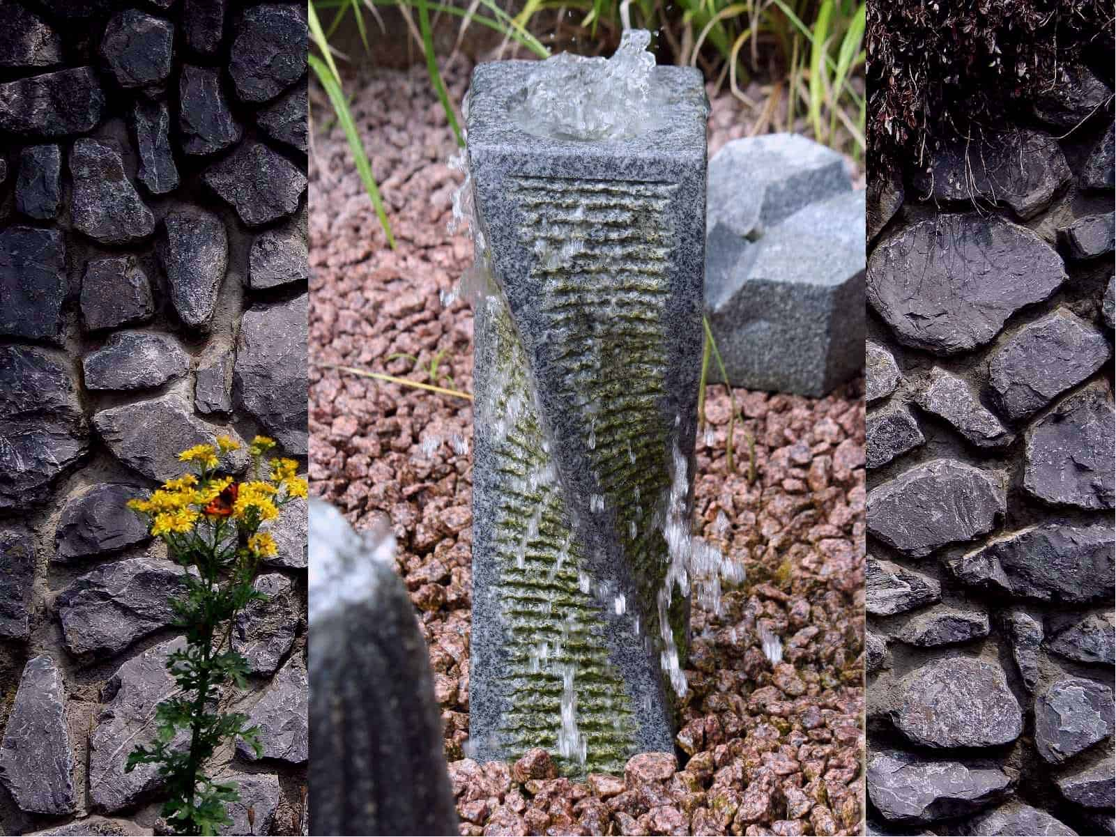 Gartenbrunnen Granit Swirl